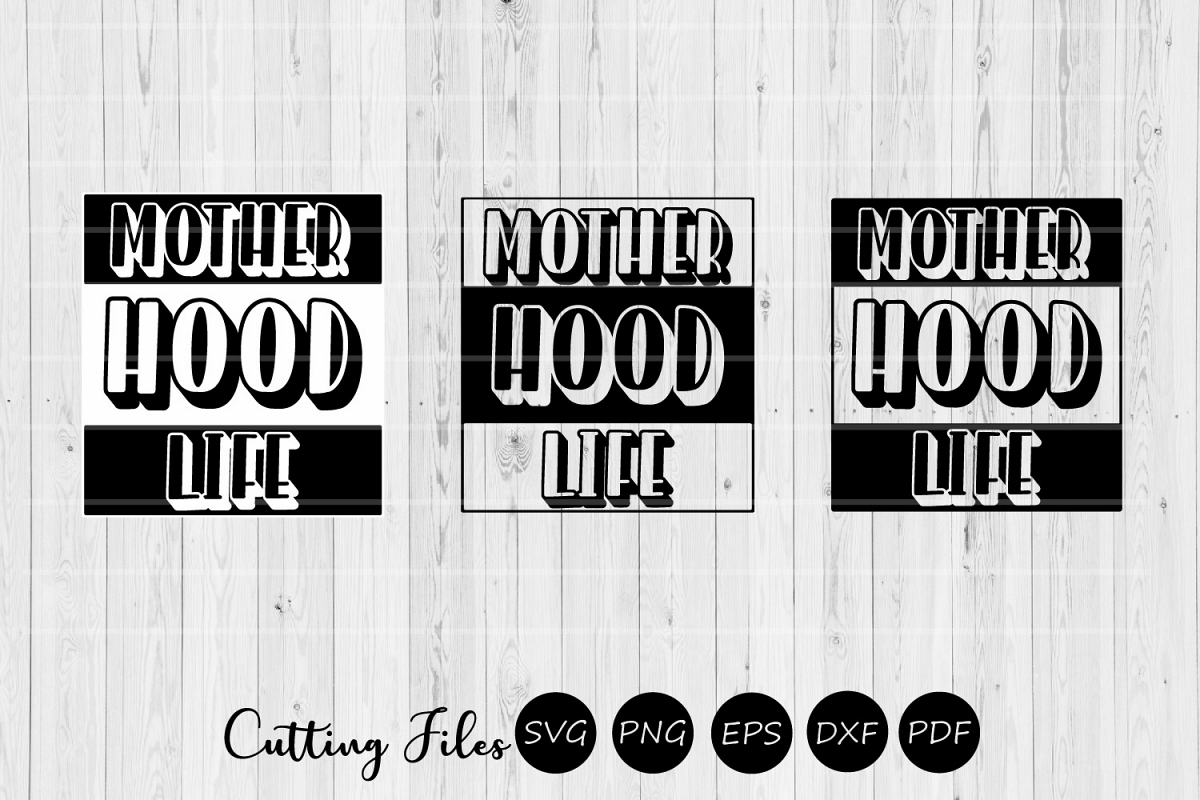 Motherhood life| Mothers day | SVG Cutting files | example image 1