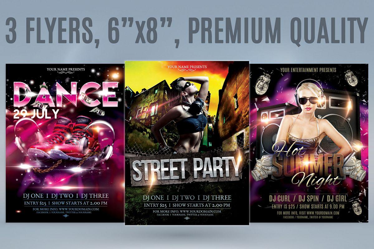 Hip Hop Flyer Bundle Example Image 1