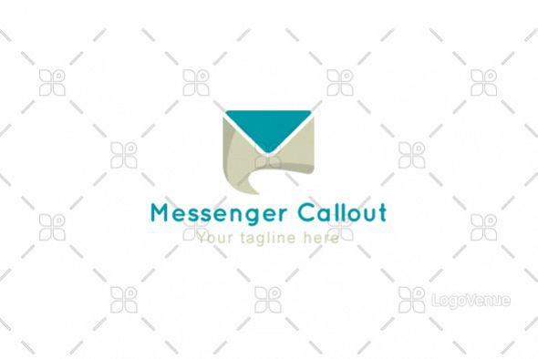 Messenger Callout - Messaging App Stock Logo Template example image 1