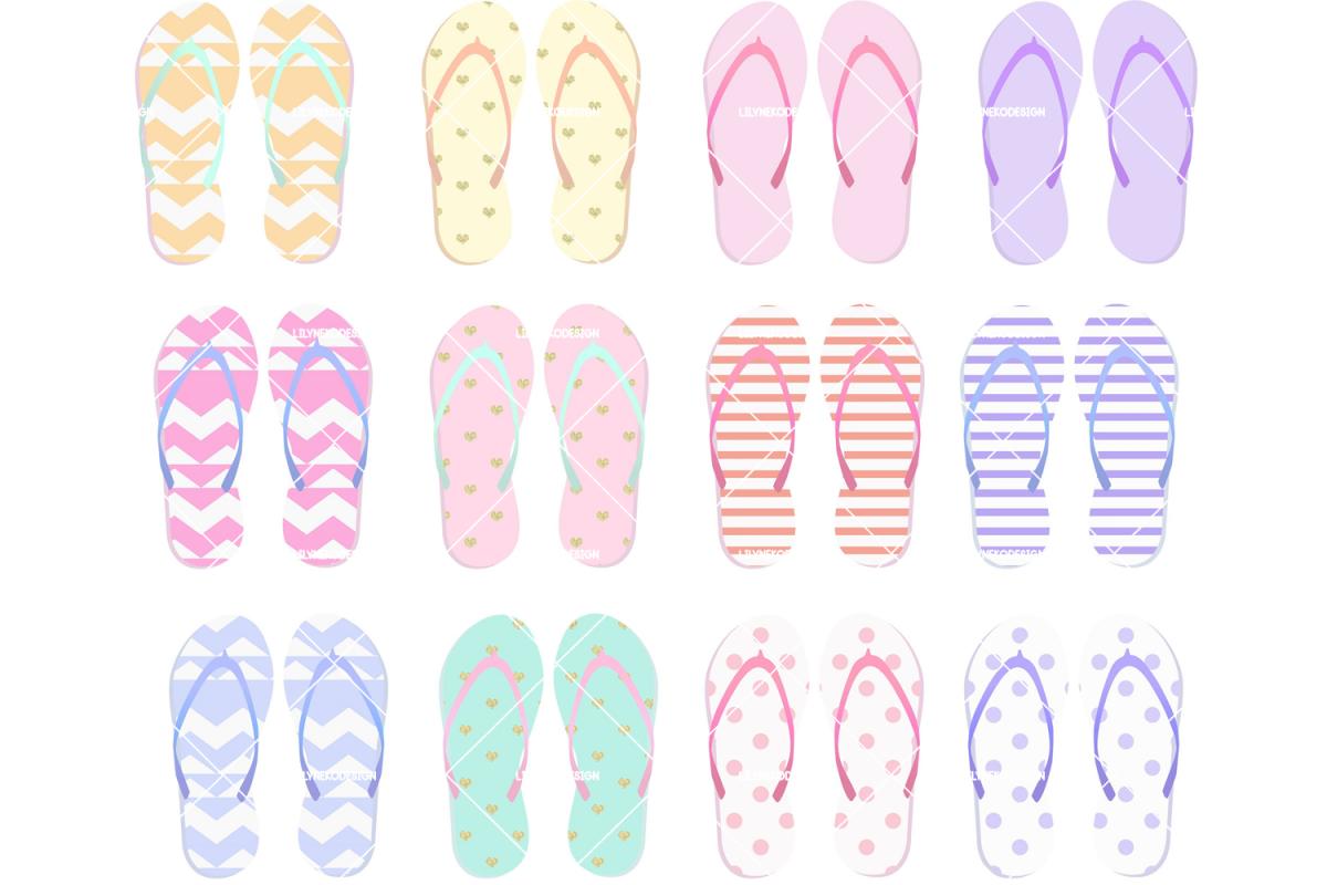 Flip Flops Clipart example image 1
