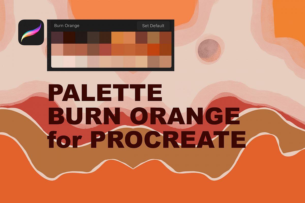 Palette Burn Orange for Procreate example image 1