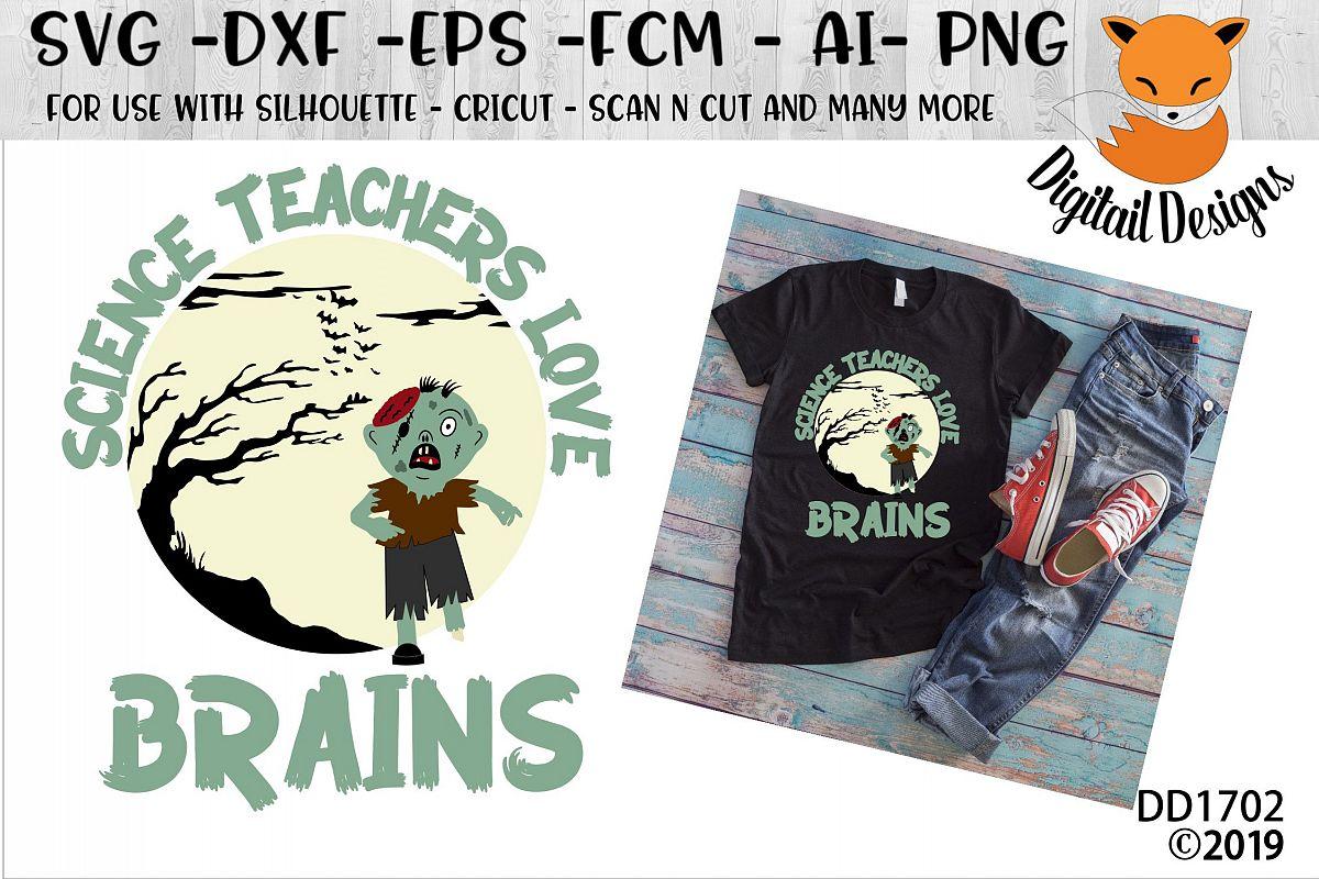Science Teachers Love Brains Halloween SVG example image 1