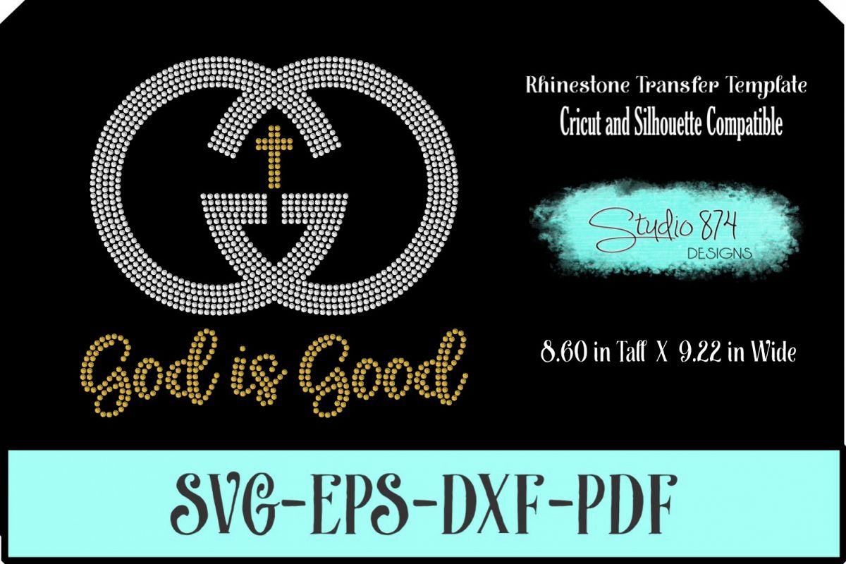 Faith Rhinestone SVG Template - God is Good example image 1