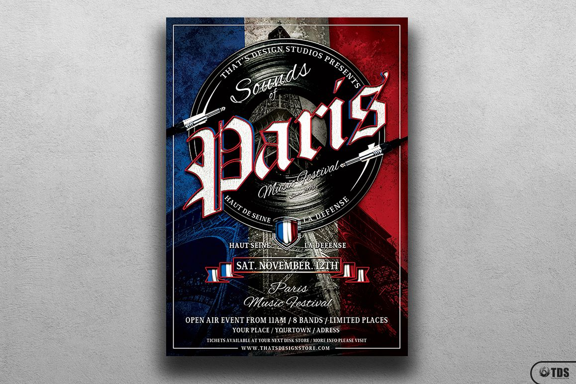 Sounds of Paris Flyer Template example image 1