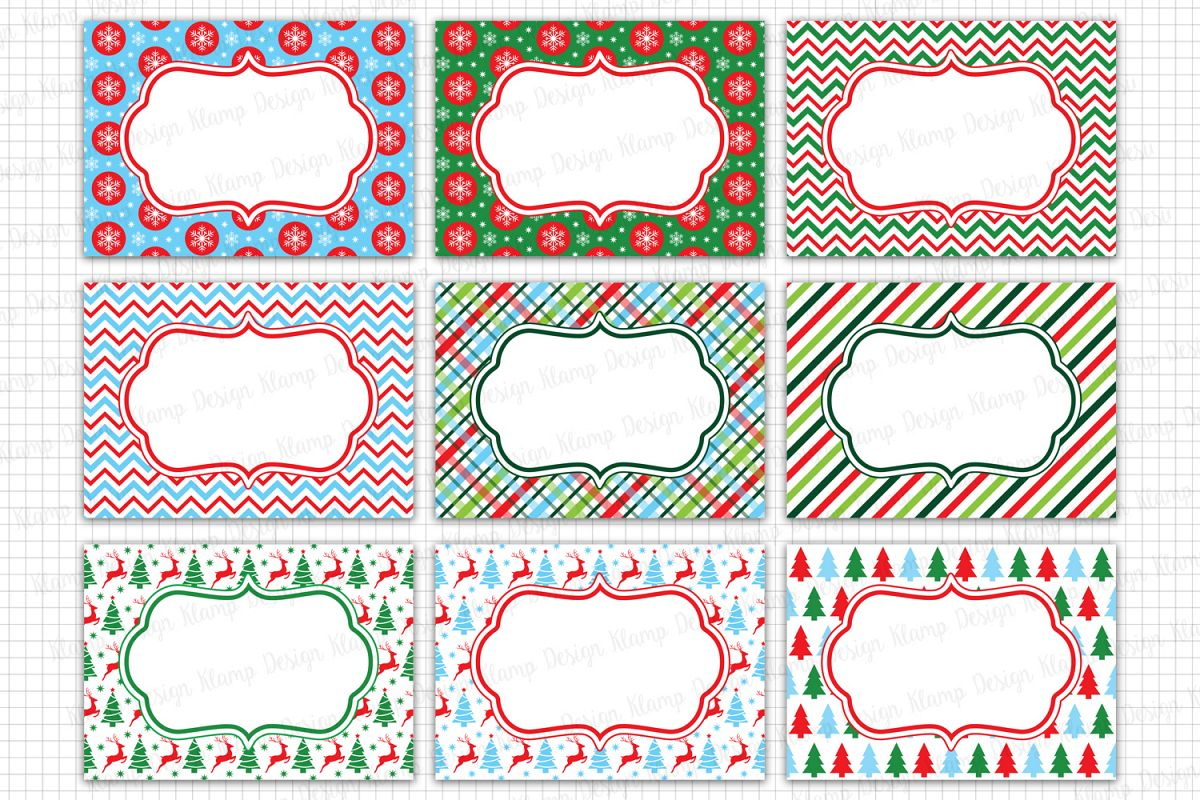 Christmas Labels Graphics and Illustrations / Tags and Labels Clip ...