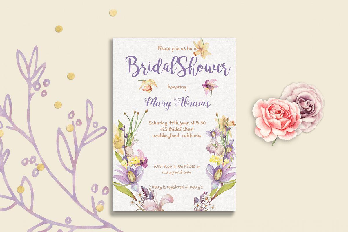 Floral bridal shower invitation card template floral bridal shower invitation card template example image 1 filmwisefo