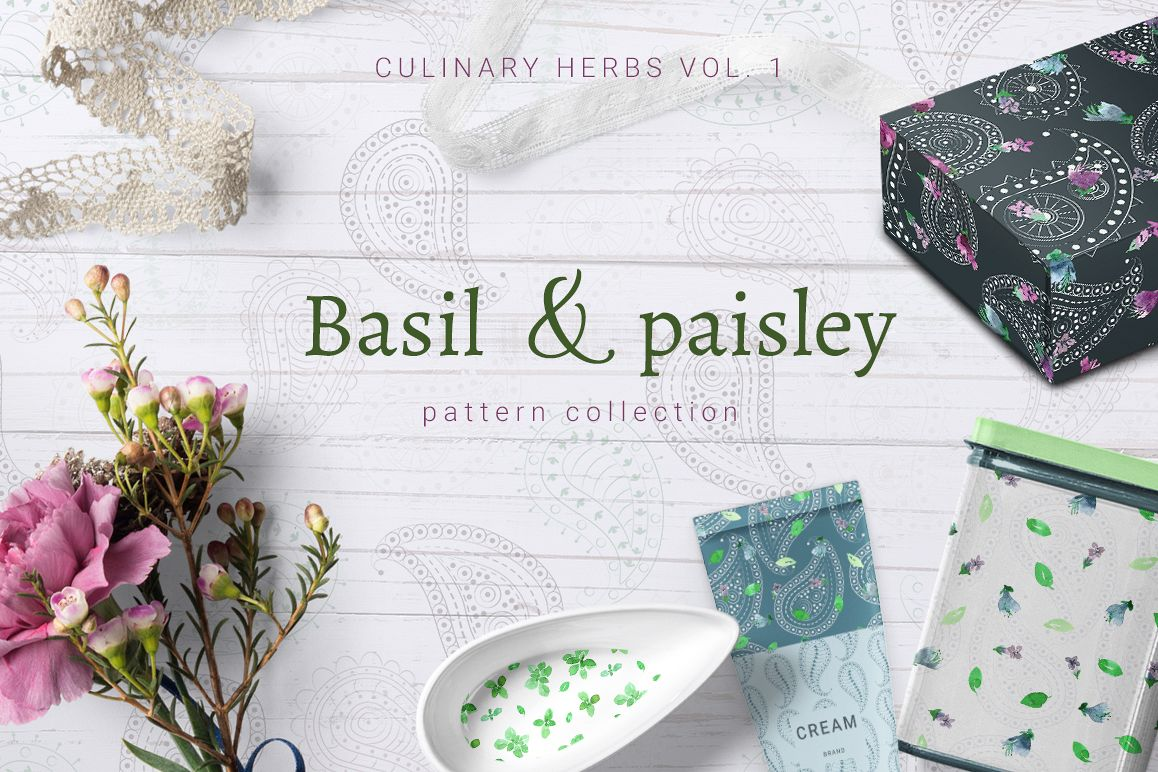 Basil & Paisley - pattern collection example image 1
