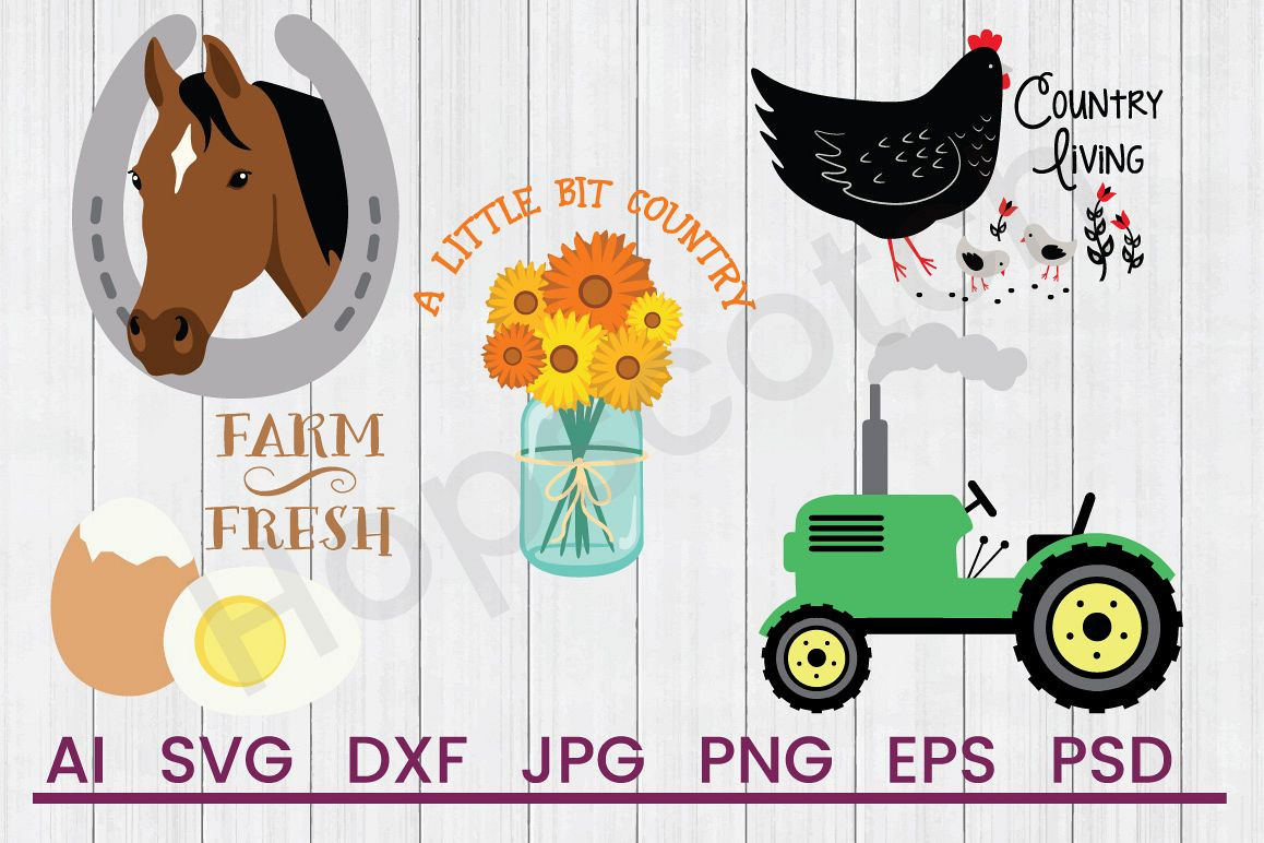 Farmhouse SVG Bundle, DXF File, Cuttable File example image 1