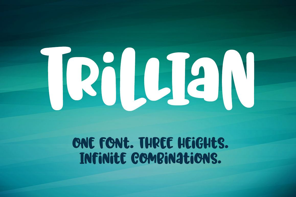 Trillian - 1 fun font, 3 heights! example image 1