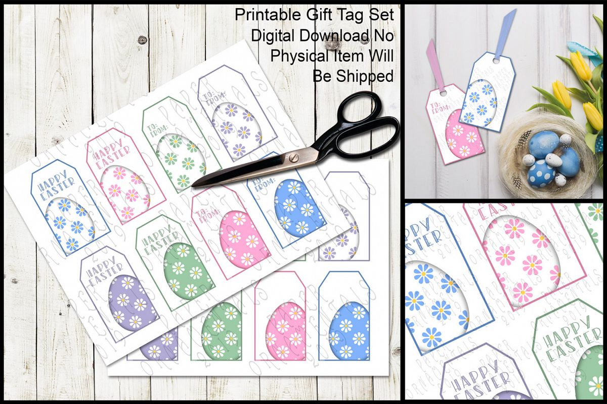 graphic about Printable Easter Gift Tags known as Printable Easter Present Tags, Pastel Easter Eggs