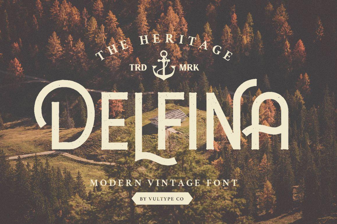 DELFINA - Vintage Sans Serif Font example image 1