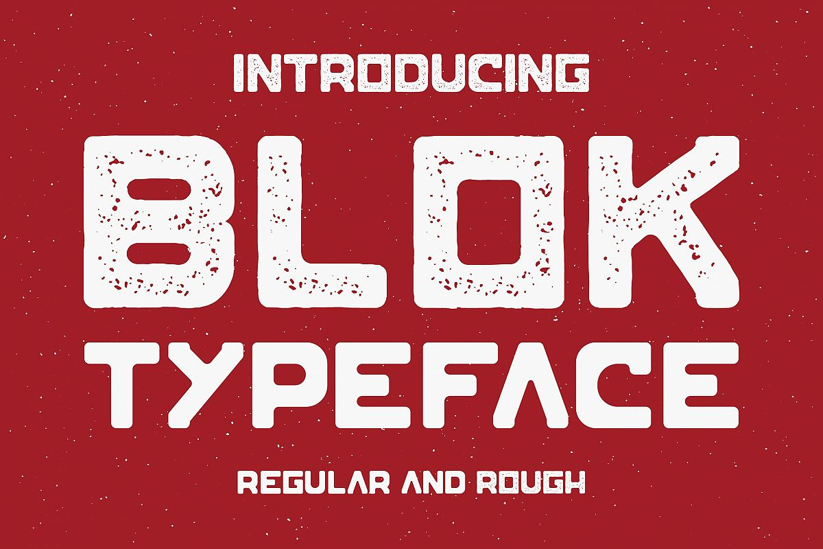 Blok Typeface example image 1