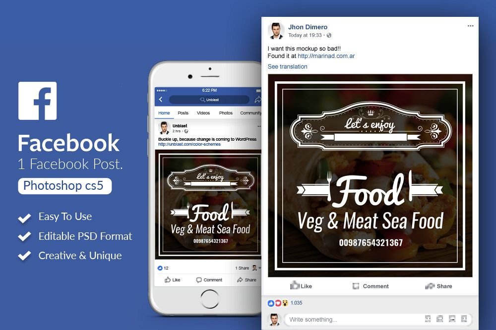 Food Facebook Post Banner example image 1
