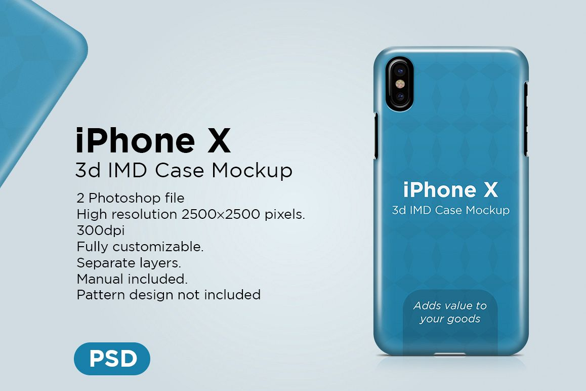 Apple iphone X 3d case Mockup example image 1