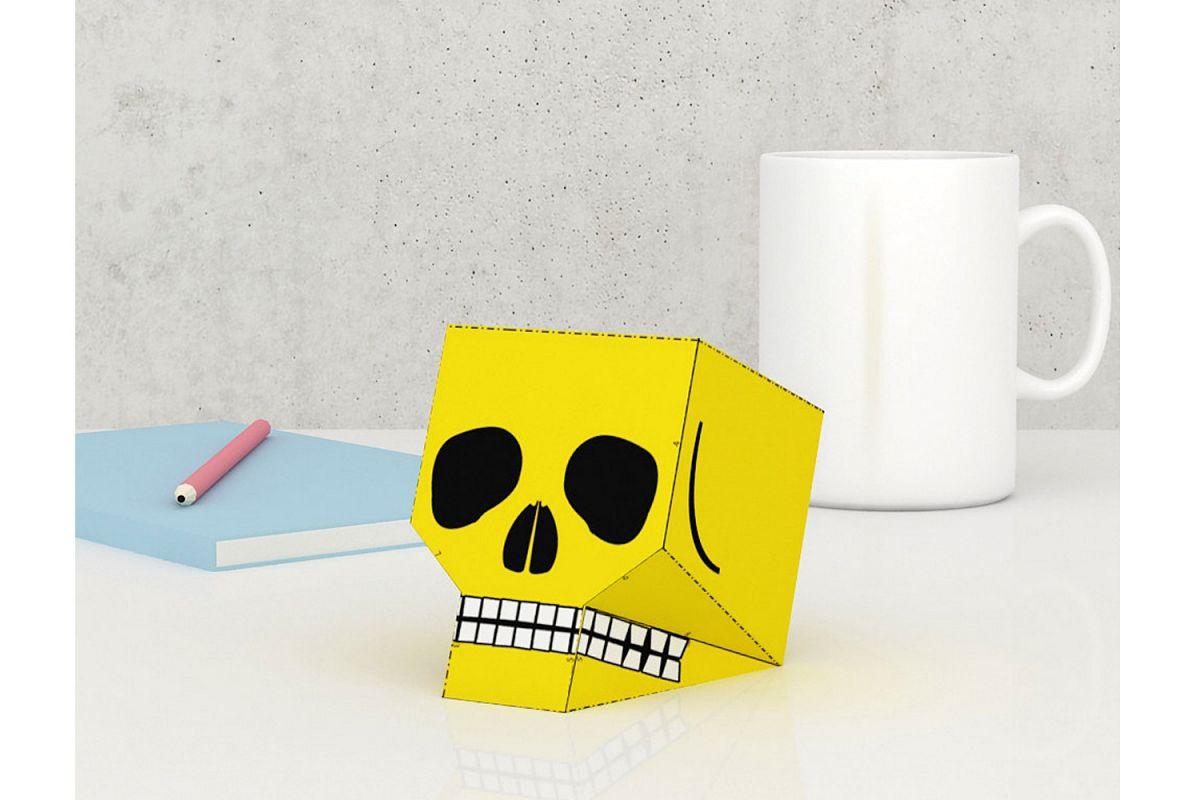 DIY Skull favor - 3d papercraft example image 1