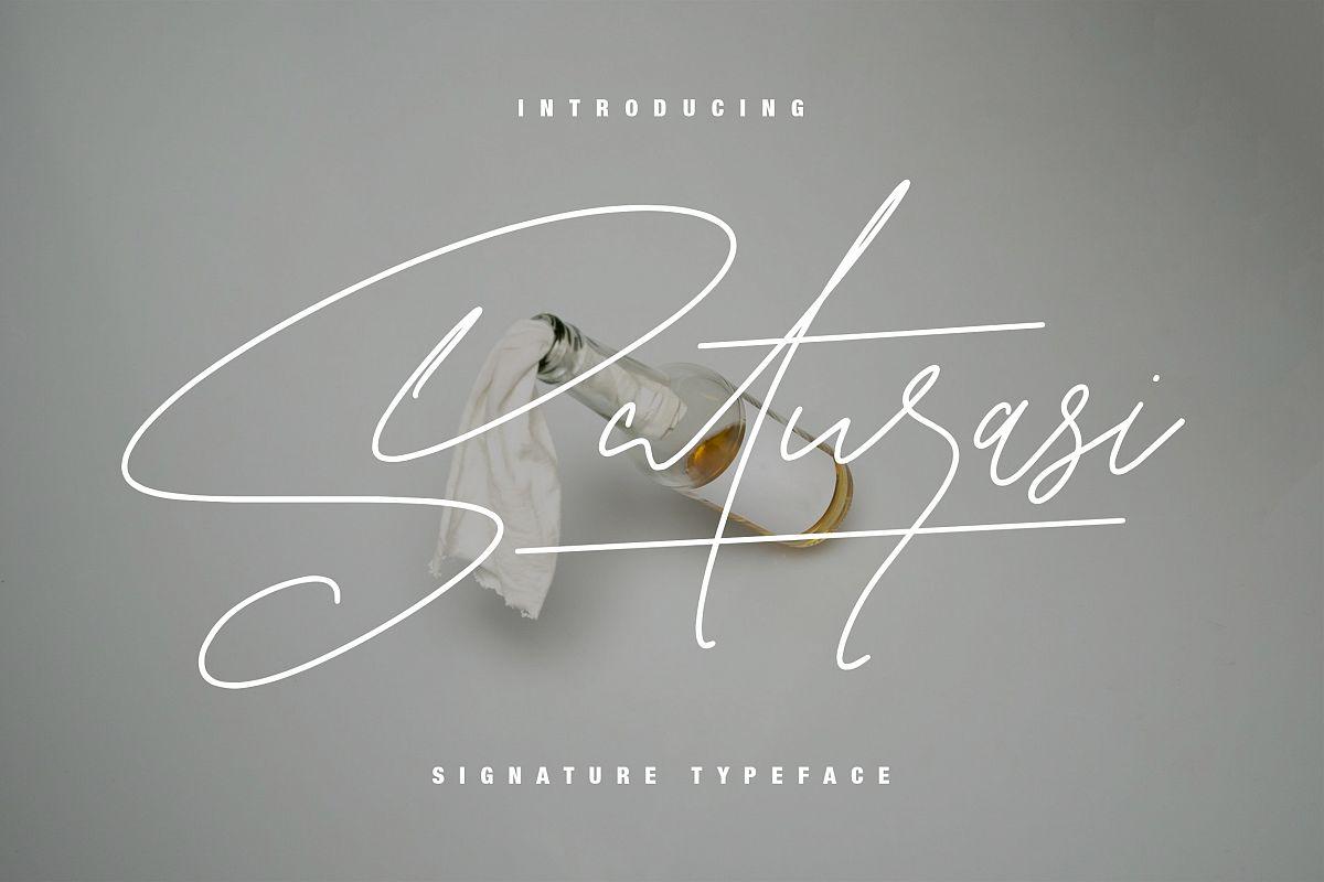 Saturasi Signature Typeface example image 1
