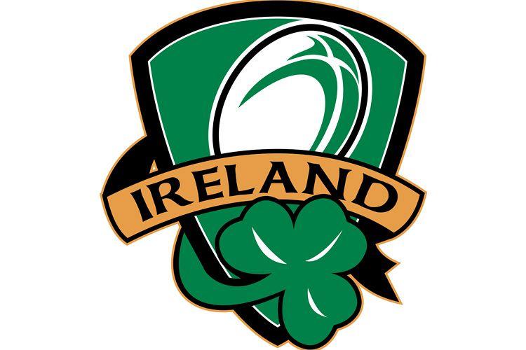rugby ball ireland shield shamrock example image 1