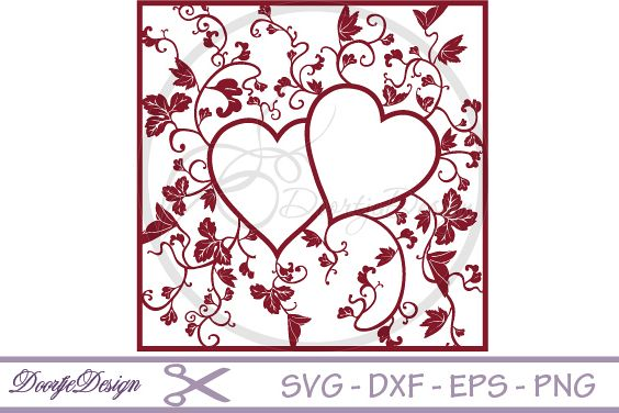 Heart Monogram SVG files Floral example image 1