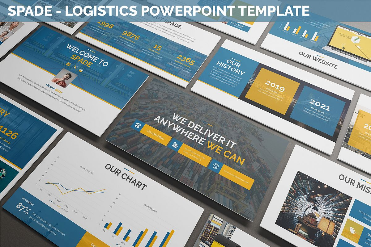 Spade - Logistics Powerpoint Template example image 1