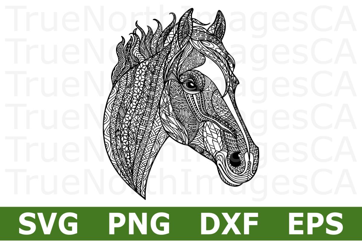 Zentangle Horse A Svg Cut File