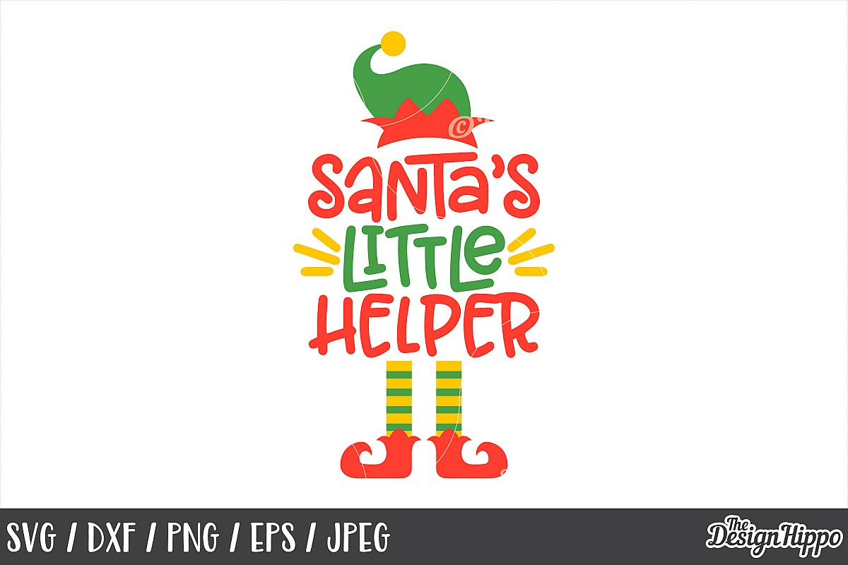 Christmas, Santas Little Helper, SVG, DXF, PNG, Cut Files