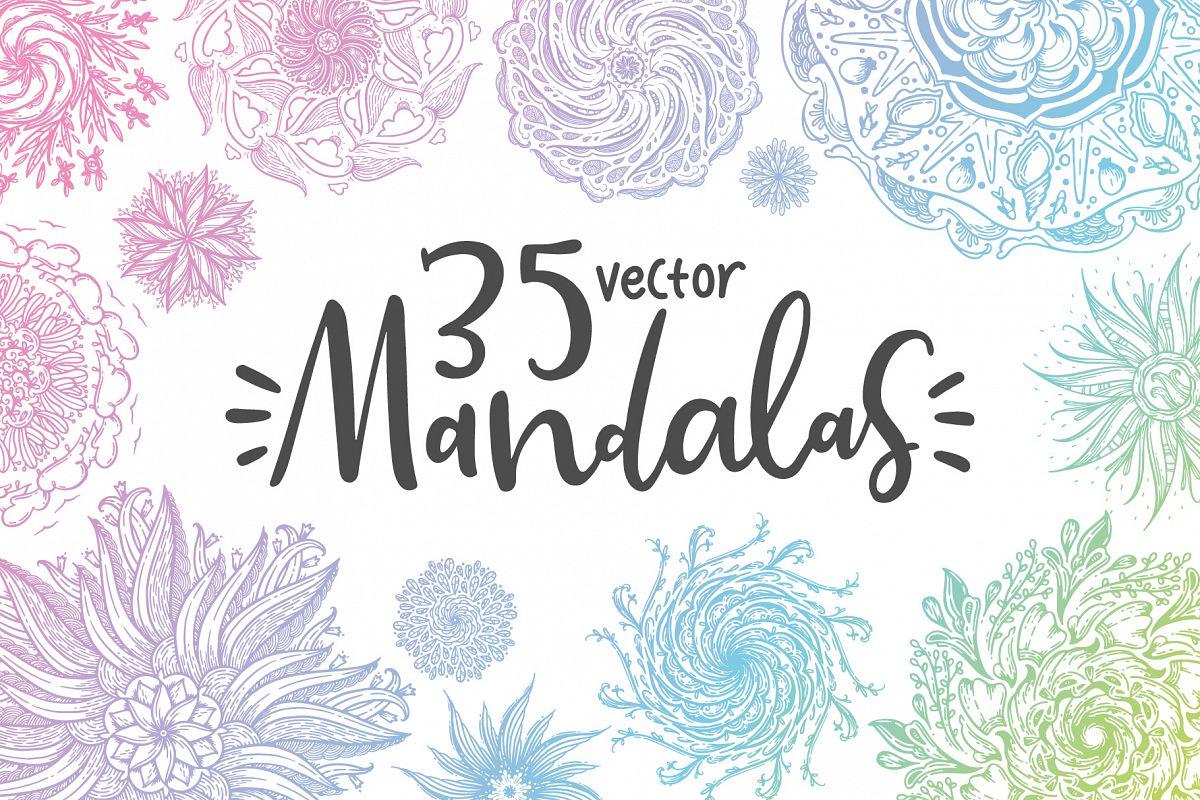 35 Vector Mandalas example image 1