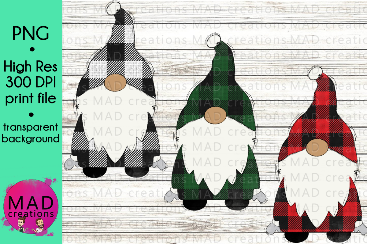 Santa Gnome - Buffalo Plaid Bundle example image 1