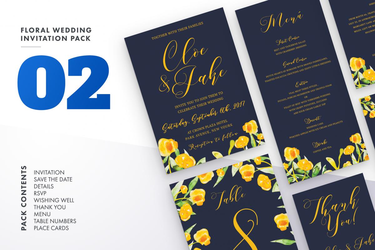 Flower Wedding Invitation Suite Vol.2 / Save Date / Bride example image 1