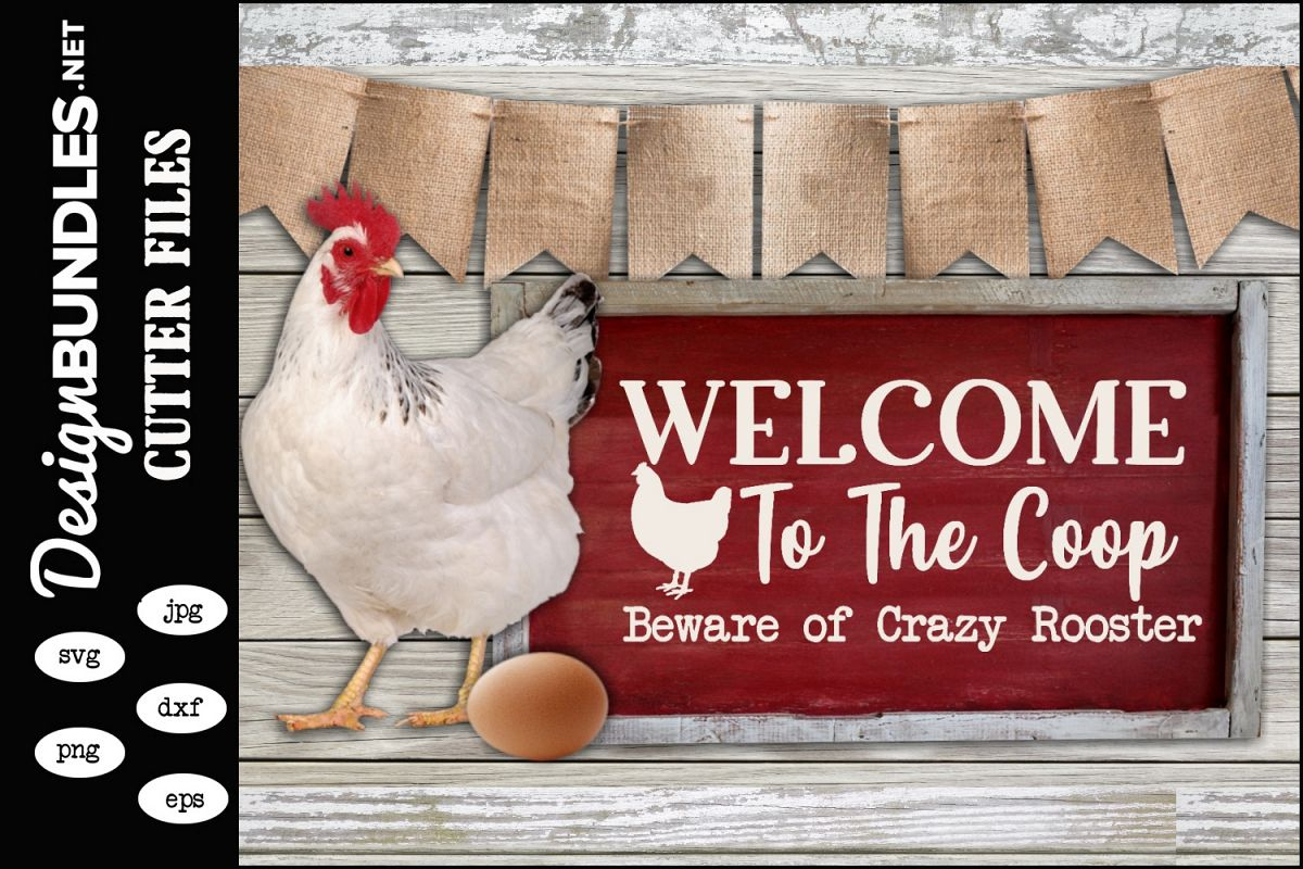 Crazy Rooster SVG example image 1