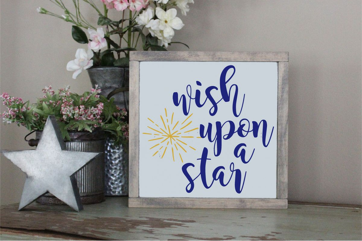 When You Wish Upon A Star SVG Sublimation Dreams Come True example image 1