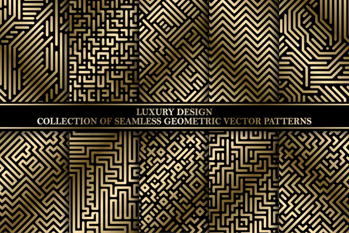 Luxury striped geometric patterns example image 1