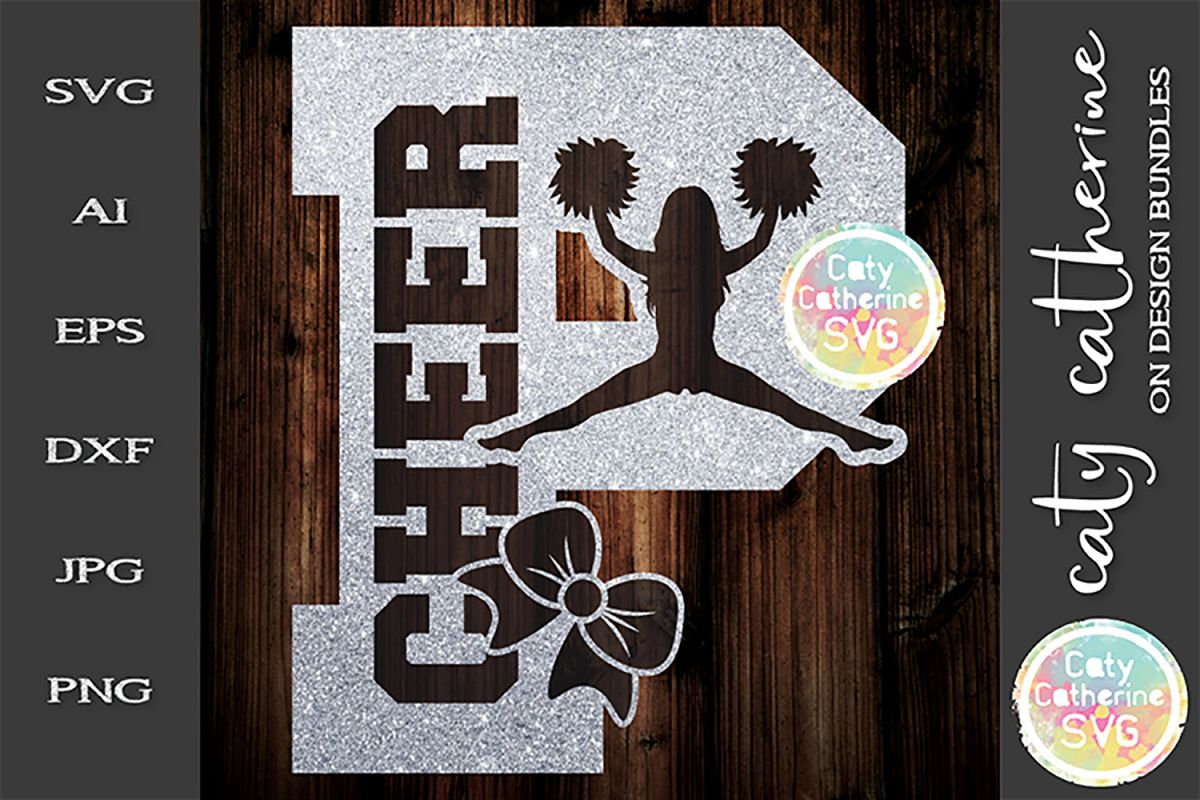 Letter P Cheerleading Monogram Letters SVG Cut File example image 1