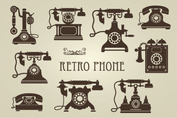 Vintage Retro Phones example image 1