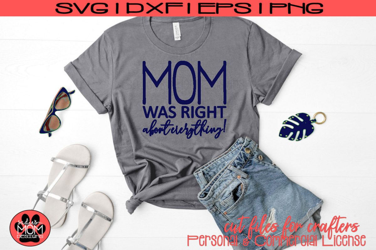 Mom Was Right About Everything SVG | Mother's Day Cut File example image 1