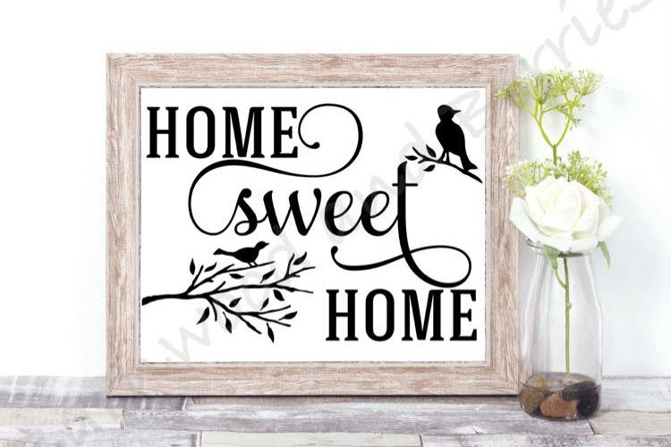 Home Sweet Home Birds SVG example image 1