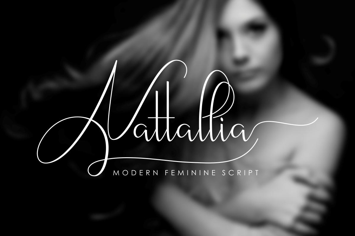Nattallia Modern Feminine Script example image 1
