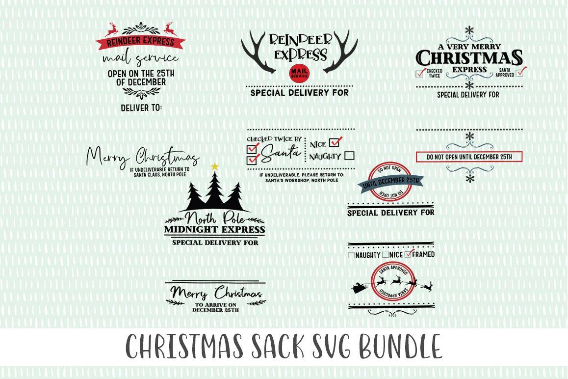 Christmas Bag SVG Bundle example image 1