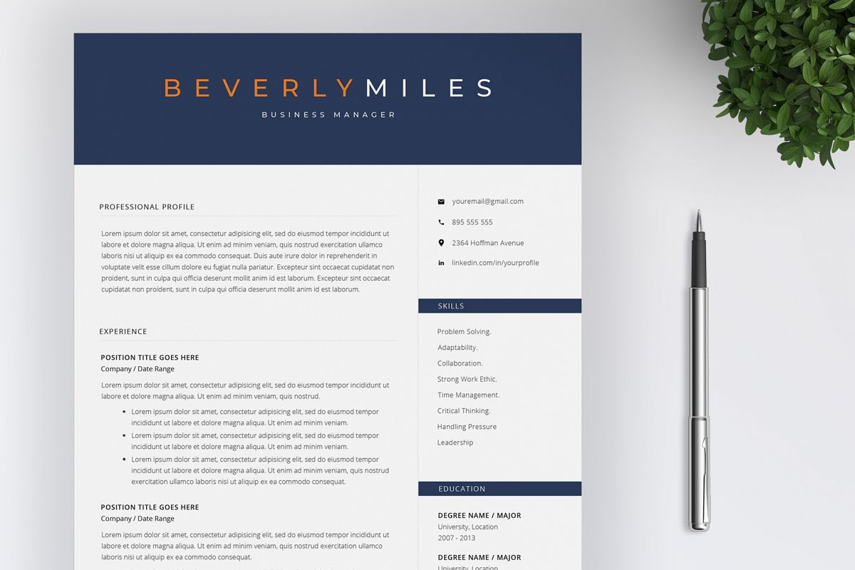 Resume Template and Cover Letter | CV template example image 1