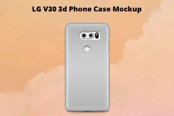 LG V30 3d Case Mockup Back View