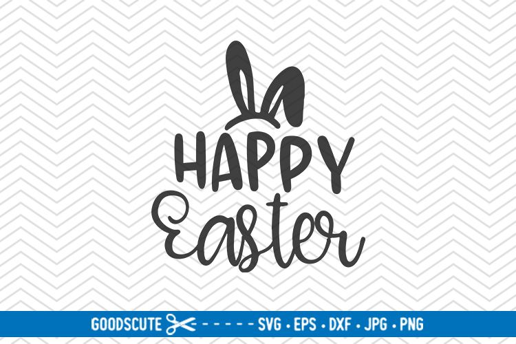 Happy Easter - SVG DXF JPG PNG EPS example image 1