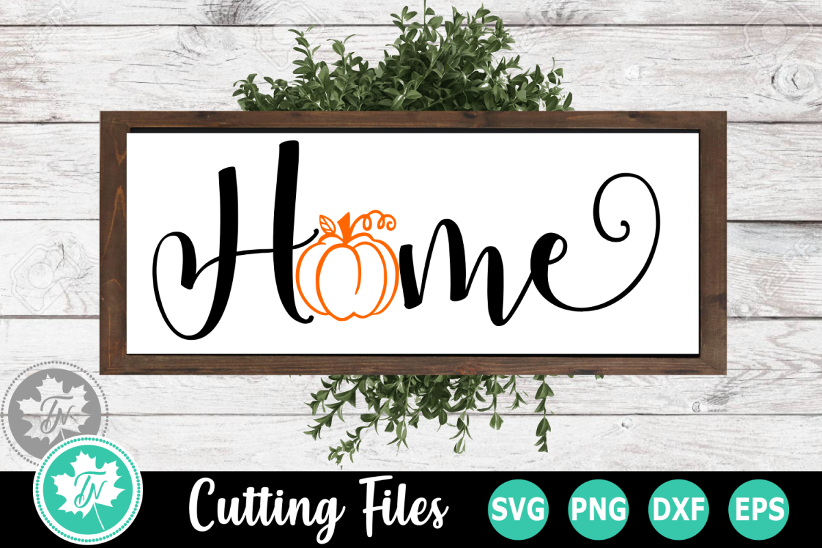 Pumpkin Hpme - A Fall SVG Cut File example image 1