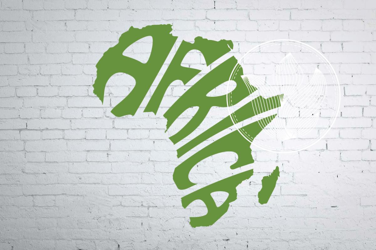 Digital Africa Word Art In Map Shape T Shirt Design