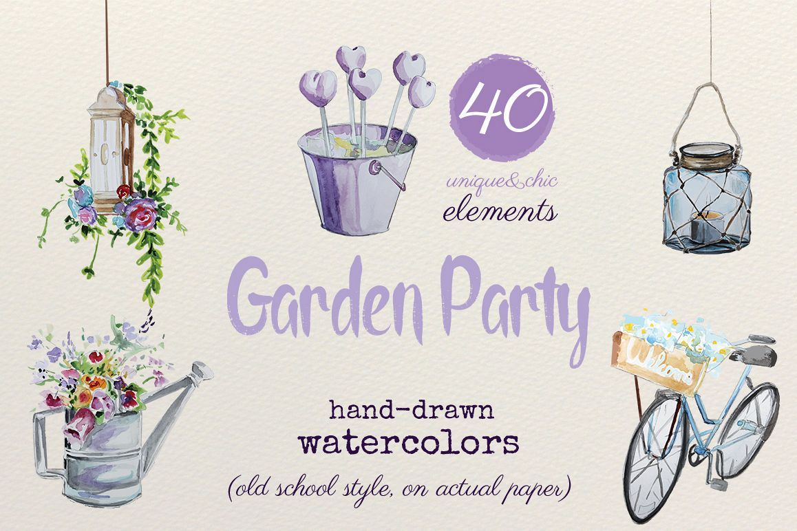 Garden Party - Watercolors example image 1