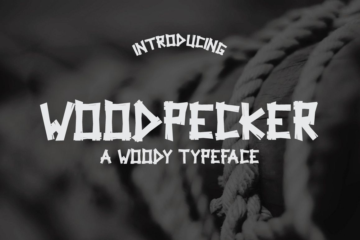 Woodpecker Typeface example image 1
