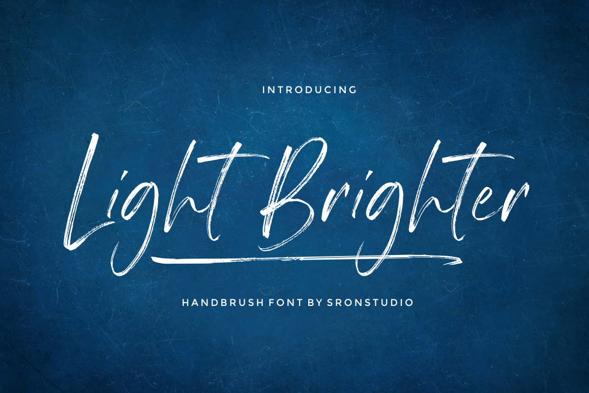 Light Brighter - Handbrush Font example image 1