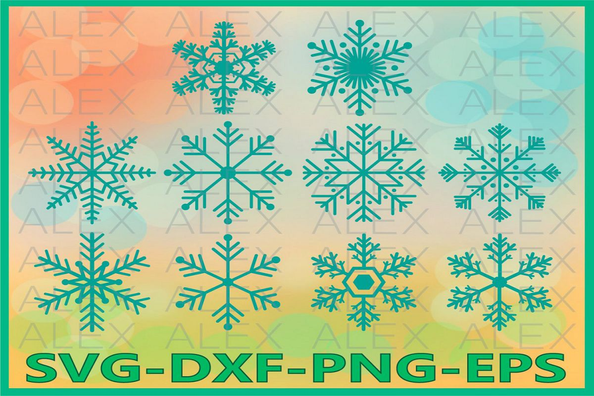 Snowflake svg, Christmas Snowflake Svg, Snowflakes Clip Art example image 1