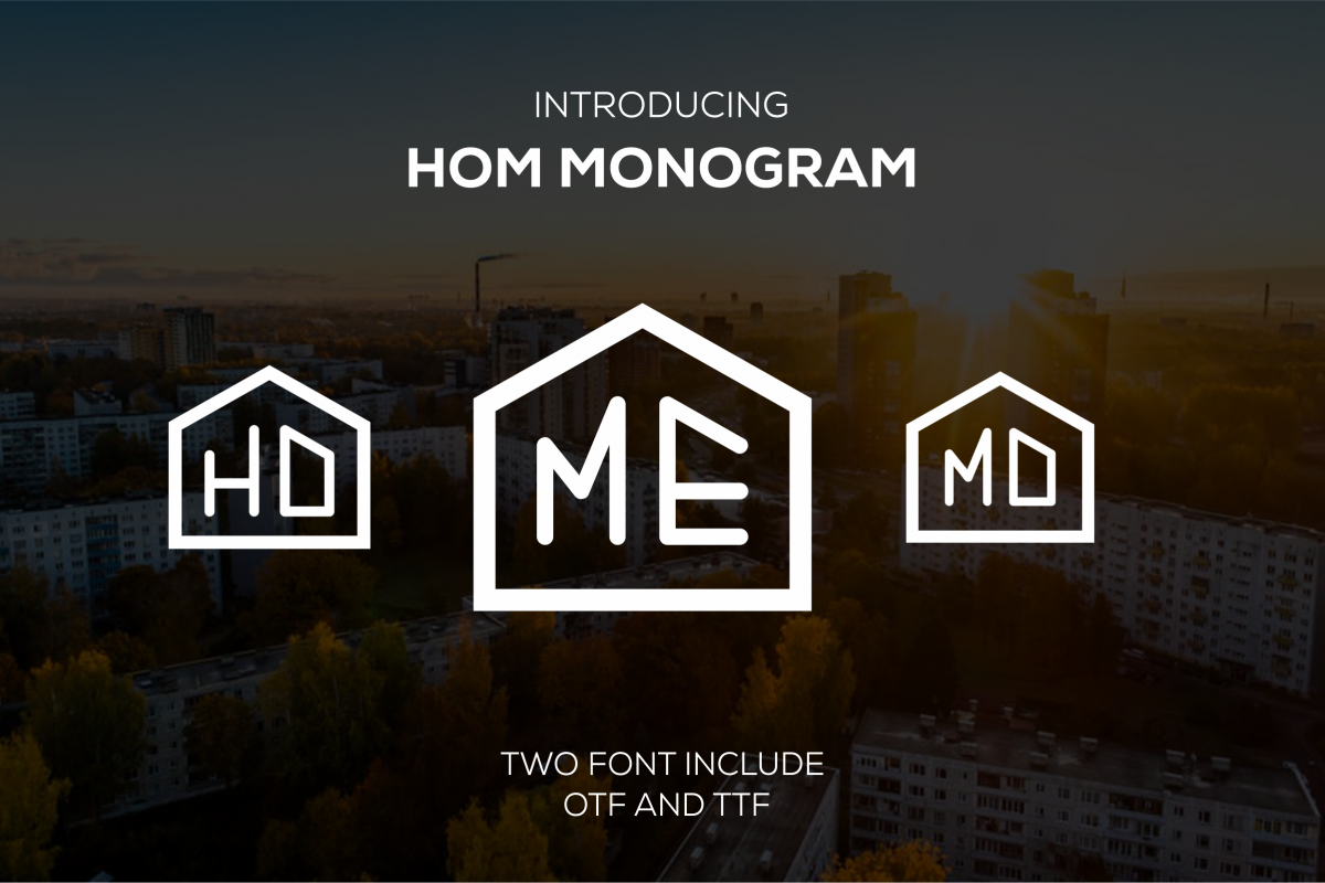 HOM Monogram (rounded) example image 1