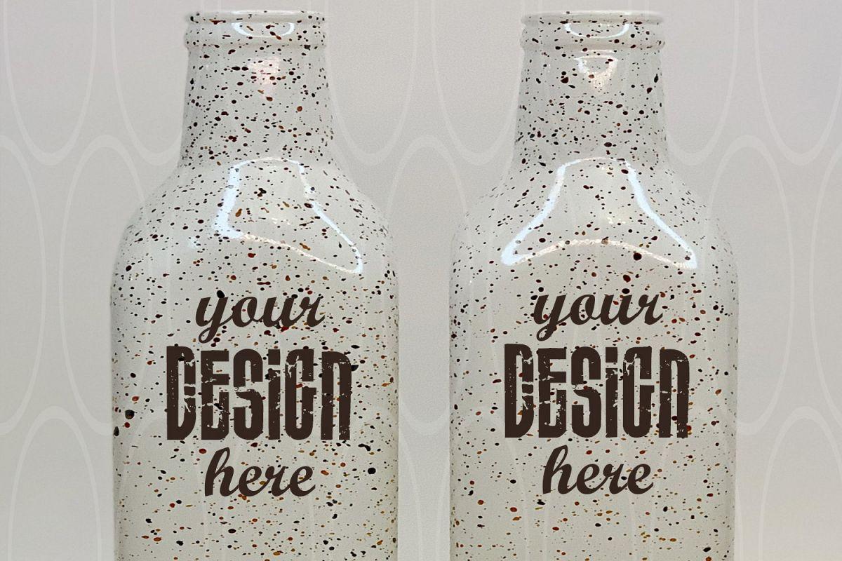 Blank White bottles Mockup Product Kitchen Styled Stock example image 1