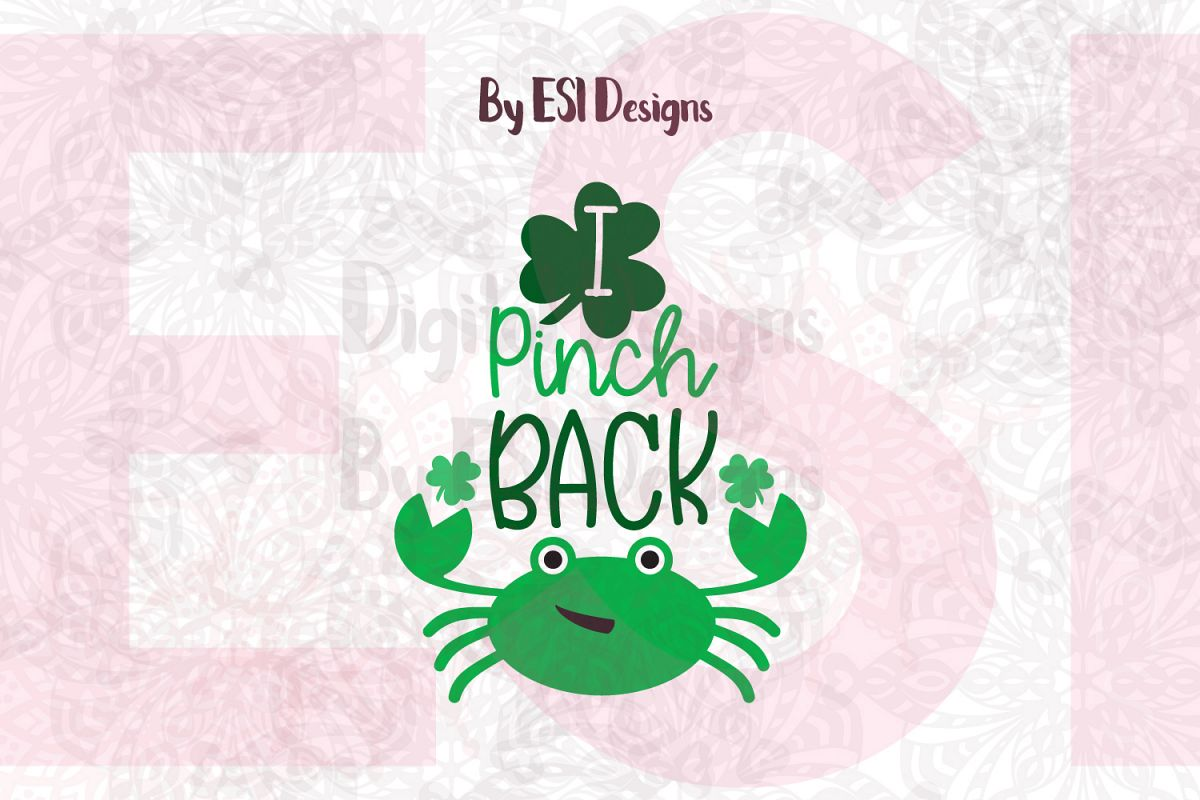 I Pinch Back | St Patrick's Day Quote Design example image 1