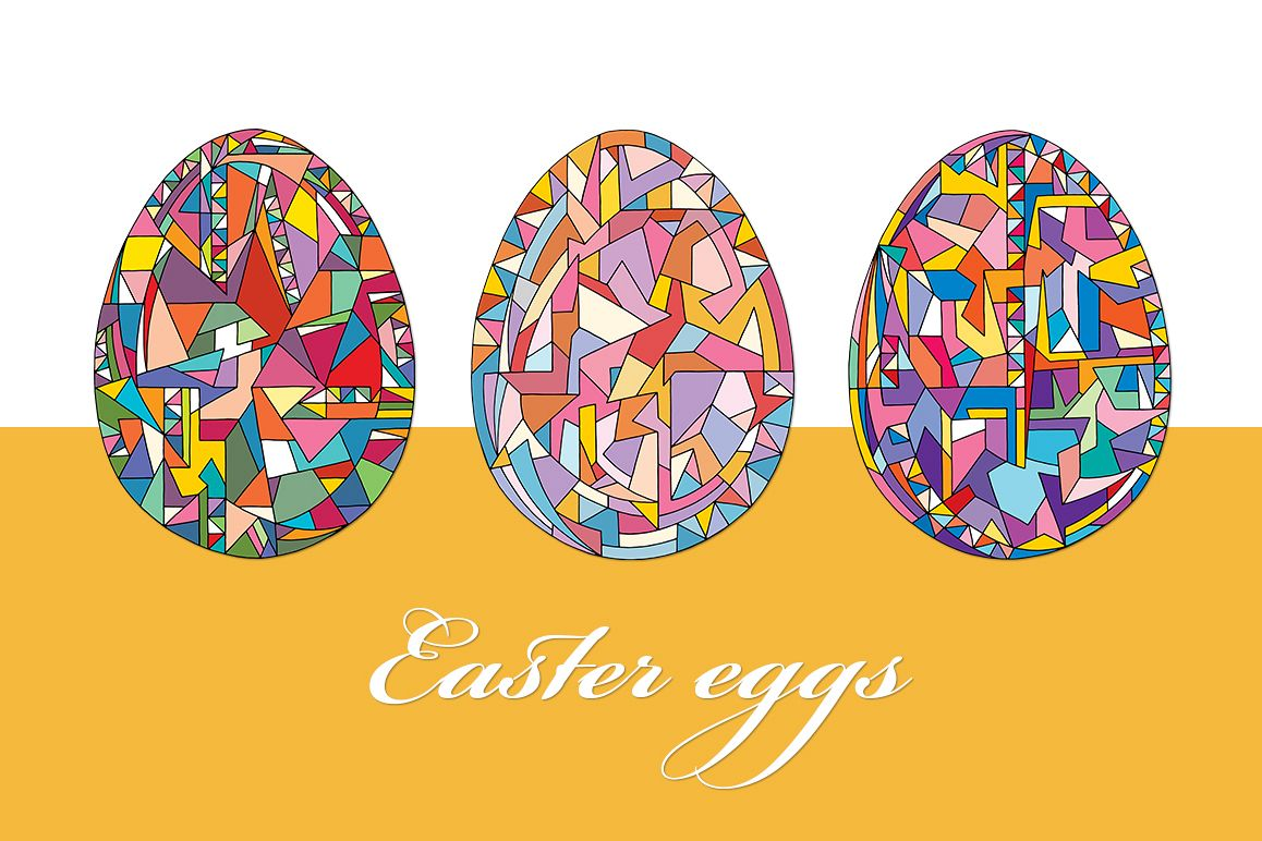 Easter eggs vector set example image 1